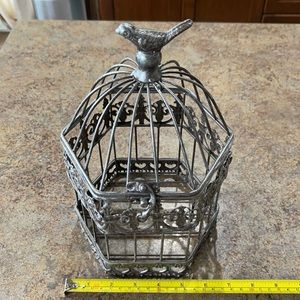 Vintage style metal bird cage